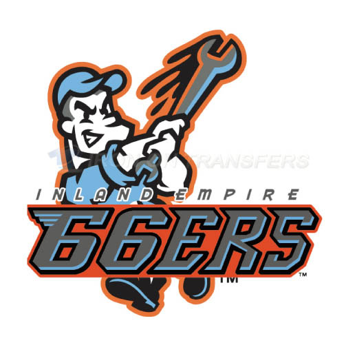 Inland Empire 66ers Iron-on Stickers (Heat Transfers)NO.7665