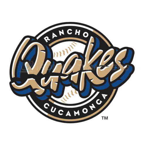 Rancho Cucamonga Quakes Iron-on Stickers (Heat Transfers)NO.7677