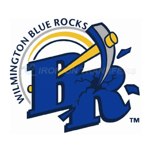 Wilmington Blue Rocks Iron-on Stickers (Heat Transfers)NO.7798