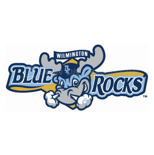 Wilmington Blue Rocks Iron-on Stickers (Heat Transfers)NO.7806