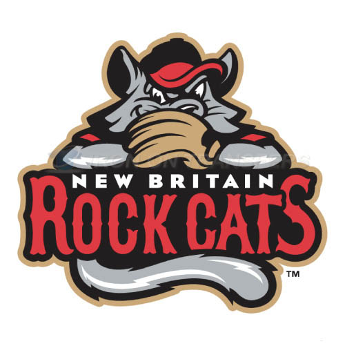 New Britain Rock Cats Iron-on Stickers (Heat Transfers)NO.7845
