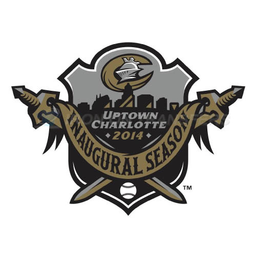 Charlotte Knights Iron-on Stickers (Heat Transfers)NO.7945