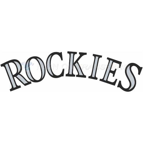 Colorado Rockies Iron-on Stickers (Heat Transfers)NO.1572