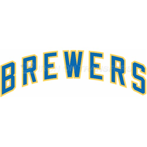 Milwaukee Brewers Iron-on Stickers (Heat Transfers)NO.1701