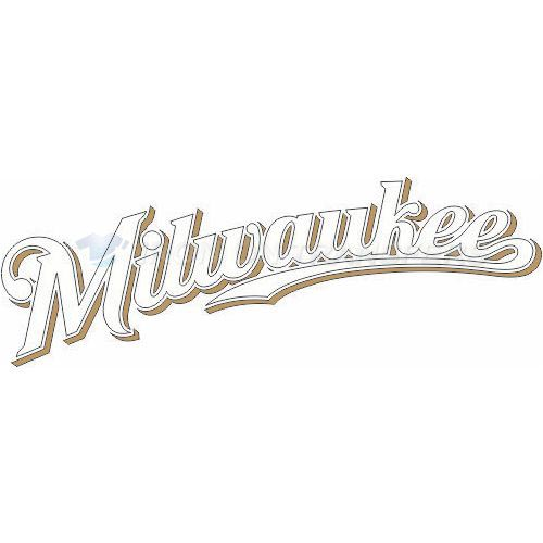 Milwaukee Brewers Iron-on Stickers (Heat Transfers)NO.1705