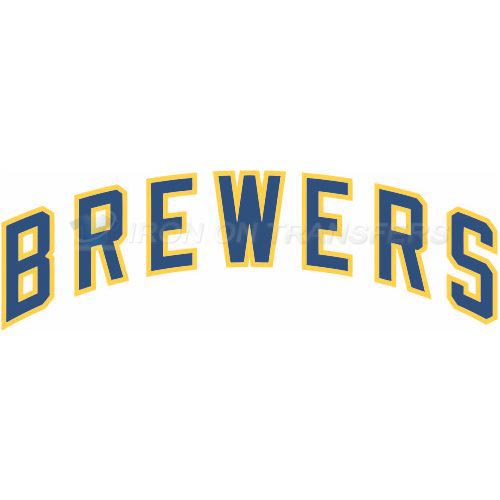 Milwaukee Brewers Iron-on Stickers (Heat Transfers)NO.1706
