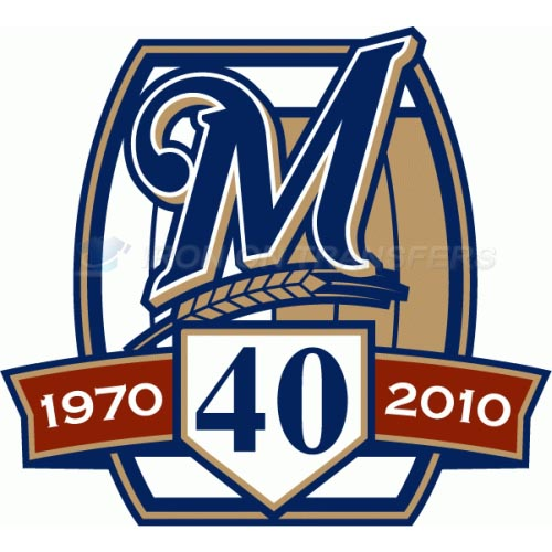 Milwaukee Brewers Iron-on Stickers (Heat Transfers)NO.1713