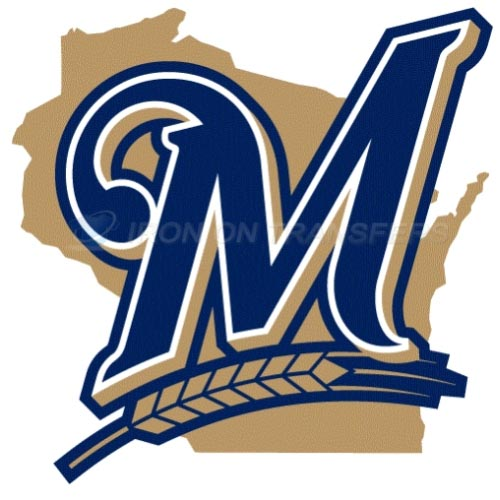 Milwaukee Brewers Iron-on Stickers (Heat Transfers)NO.1720