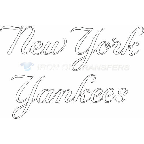 New York Yankees Iron-on Stickers (Heat Transfers)NO.1777