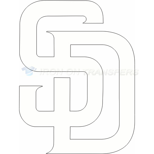 San Diego Padres Iron-on Stickers (Heat Transfers)NO.1843