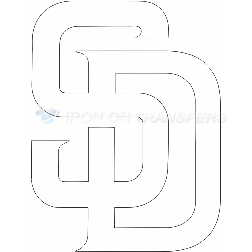 San Diego Padres Iron-on Stickers (Heat Transfers)NO.1851