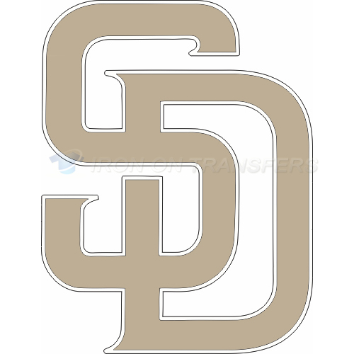 San Diego Padres Iron-on Stickers (Heat Transfers)NO.1855