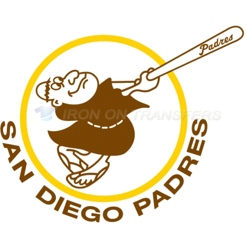 San Diego Padres Iron-on Stickers (Heat Transfers)NO.1858