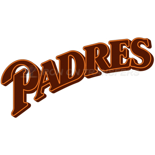 San Diego Padres Iron-on Stickers (Heat Transfers)NO.1860