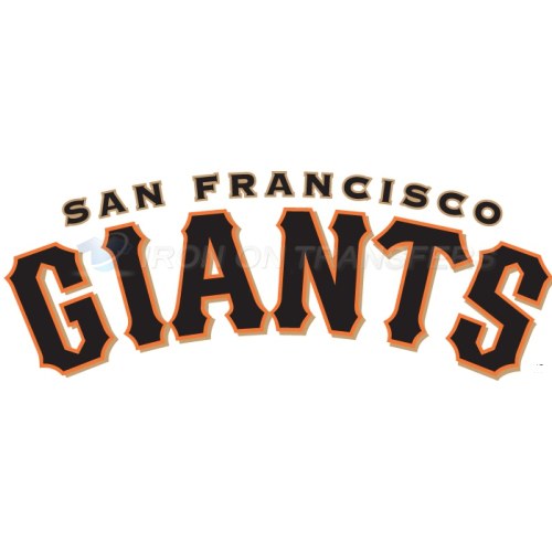 San Francisco Giants Iron-on Stickers (Heat Transfers)NO.1899