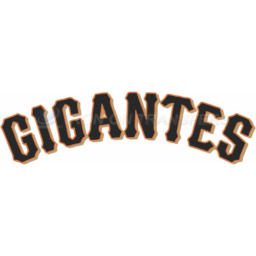 San francisco giants iron on stickers heat transfersno 1901