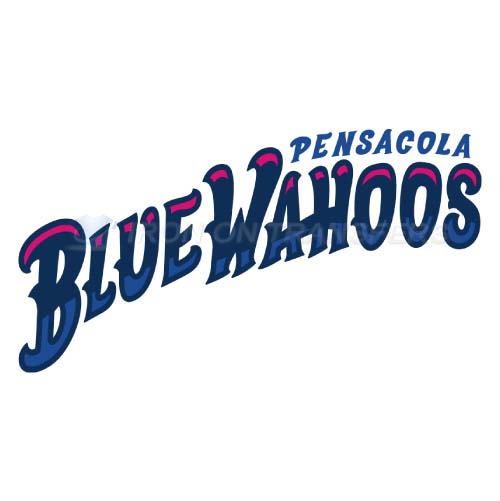 Pensacola Blue Wahoos Iron-on Stickers (Heat Transfers)NO.7742