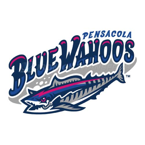 Pensacola Blue Wahoos Iron-on Stickers (Heat Transfers)NO.7743