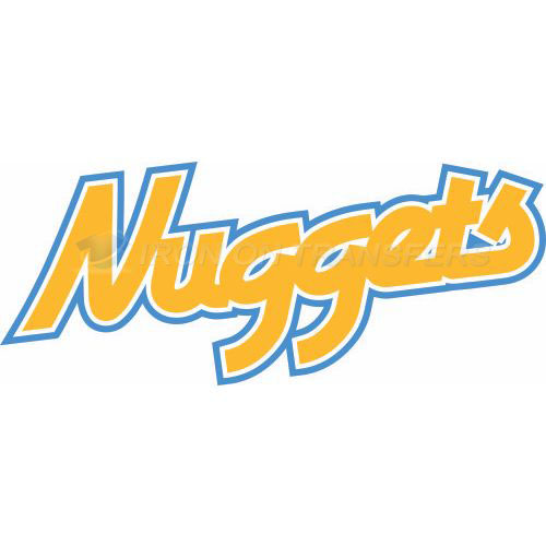 Denver Nuggets Iron-on Stickers (Heat Transfers)NO.989