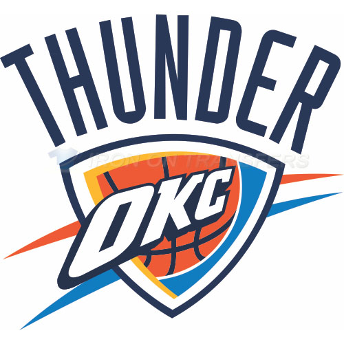 Oklahoma City Thunder Iron-on Stickers (Heat Transfers)NO.1127