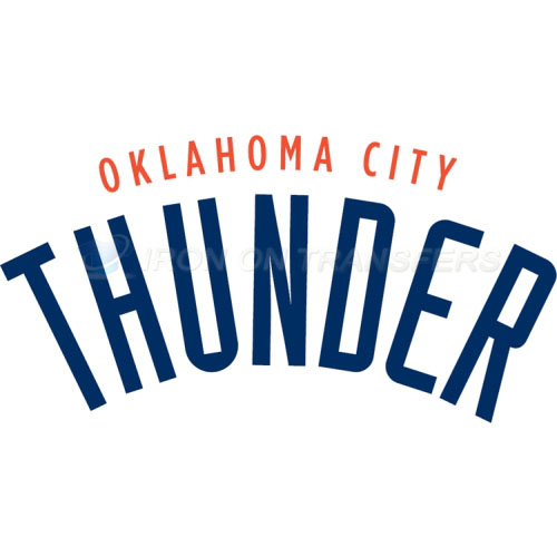 Oklahoma City Thunder Iron-on Stickers (Heat Transfers)NO.1129