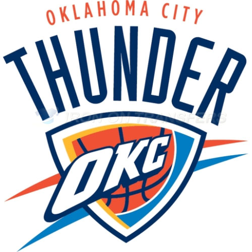 Oklahoma City Thunder Iron-on Stickers (Heat Transfers)NO.1131