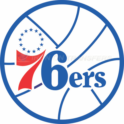 Philadelphia 76ers Iron-on Stickers (Heat Transfers)NO.1147