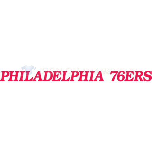 Philadelphia 76ers Iron-on Stickers (Heat Transfers)NO.1148