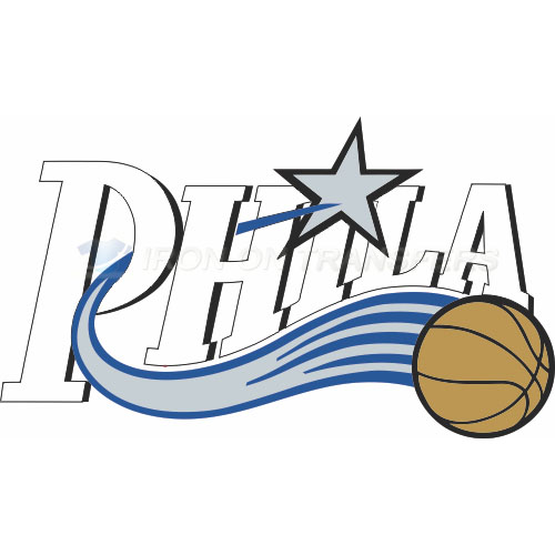 Philadelphia 76ers Iron-on Stickers (Heat Transfers)NO.1149