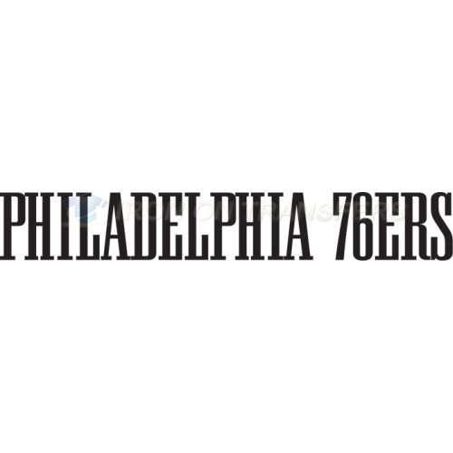 Philadelphia 76ers Iron-on Stickers (Heat Transfers)NO.1150