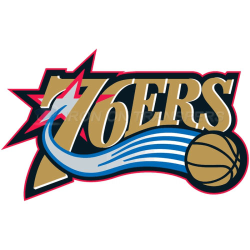Philadelphia 76ers Iron-on Stickers (Heat Transfers)NO.1154