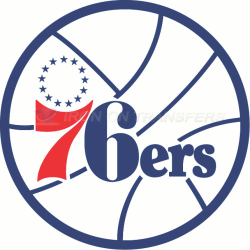 Philadelphia 76ers Iron-on Stickers (Heat Transfers)NO.1155