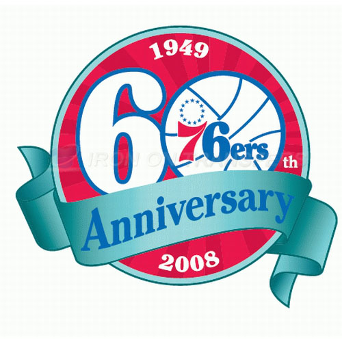 Philadelphia 76ers Iron-on Stickers (Heat Transfers)NO.1156