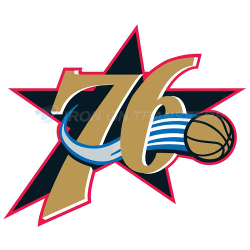 Philadelphia 76ers Iron-on Stickers (Heat Transfers)NO.1157