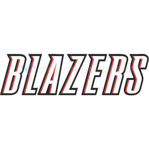 Portland Trail Blazers Iron-on Stickers (Heat Transfers)NO.1168
