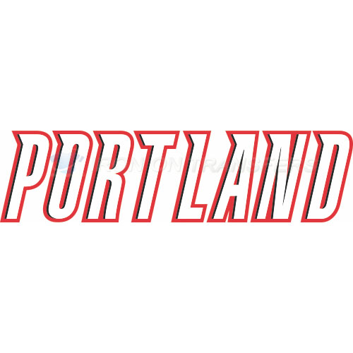 Portland Trail Blazers Iron-on Stickers (Heat Transfers)NO.1169