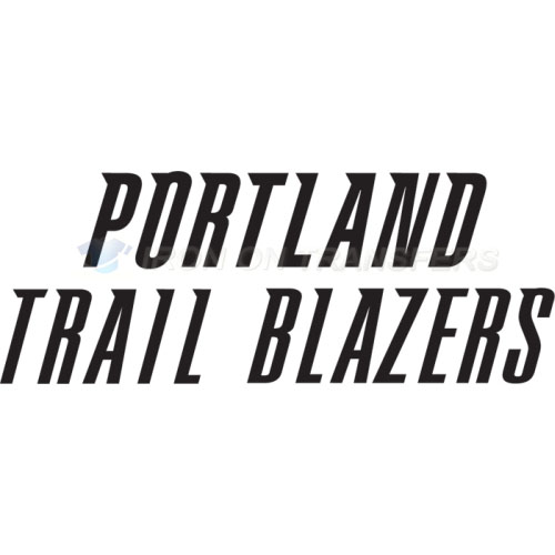 Portland Trail Blazers Iron-on Stickers (Heat Transfers)NO.1170