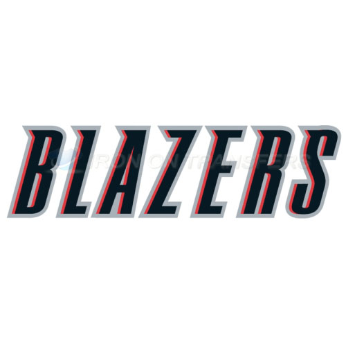 Portland Trail Blazers Iron-on Stickers (Heat Transfers)NO.1171