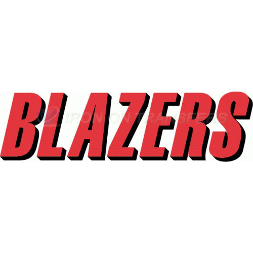 Portland Trail Blazers Iron-on Stickers (Heat Transfers)NO.1172