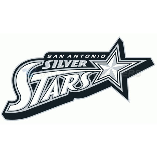 San Antonio Silver Stars Iron-on Stickers (Heat Transfers)NO.8579