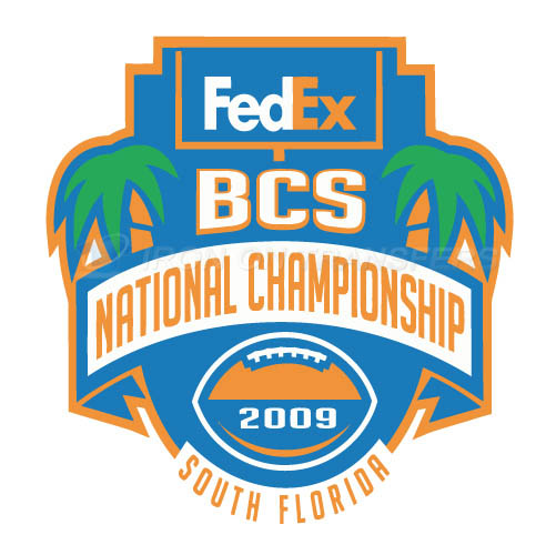BCS Championship Game Primary Logos 2009 Iron-on Transfers (Heat Transfers) N3246