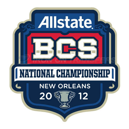 BCS Championship Game Primary Logos 2012 Iron-on Transfers (Heat Transfers) N3249