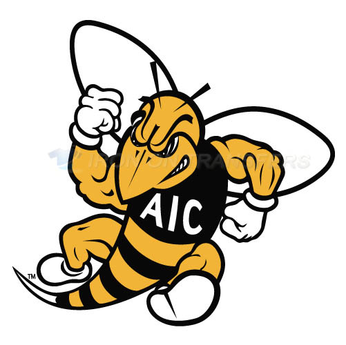 AIC Yellow Jackets 2009-Pres Secondary Iron-on Stickers (Heat Transfers)NO.3693