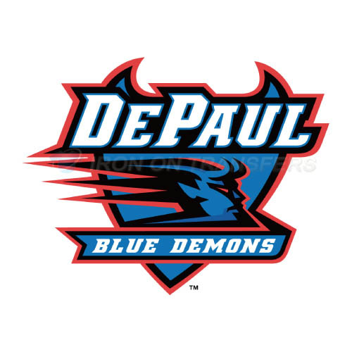 DePaul Blue Demons Iron-on Stickers (Heat Transfers)NO.4259