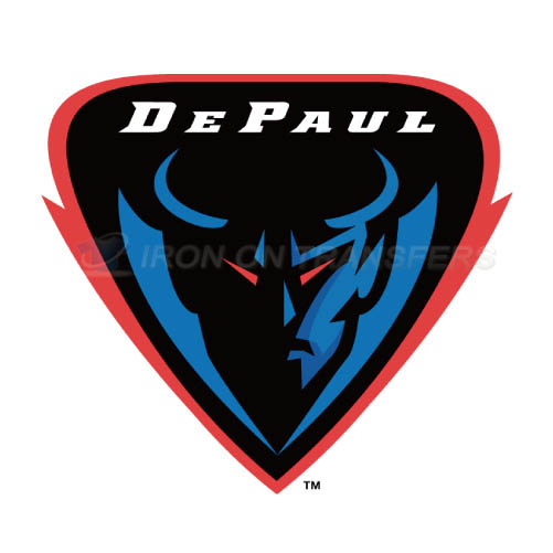 DePaul Blue Demons Iron-on Stickers (Heat Transfers)NO.4271