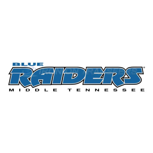 Middle Tennessee Blue Raiders Iron-on Stickers (Heat Transfers)NO.5083