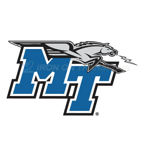 Middle Tennessee Blue Raiders Iron-on Stickers (Heat Transfers)NO.5084