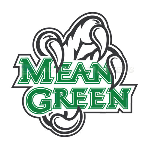 North Texas Mean Green Iron-on Stickers (Heat Transfers)NO.5612