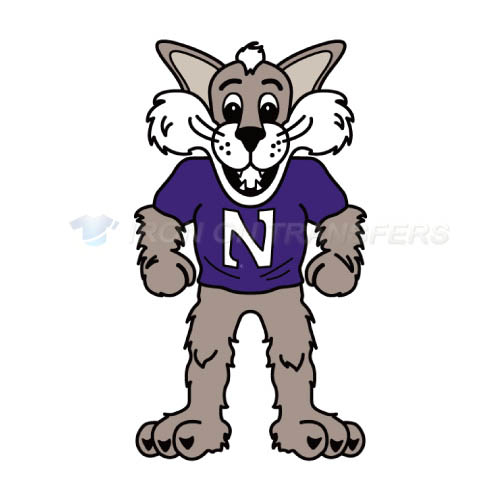 Northwestern Wildcats Iron-on Stickers (Heat Transfers)NO.5701