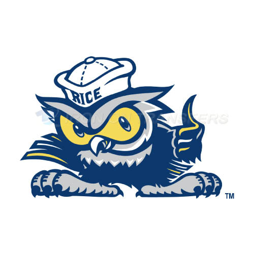 Rice Owls Iron-on Stickers (Heat Transfers)NO.5987
